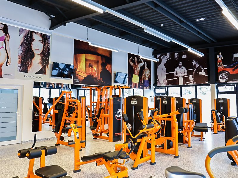 Orange Gym by George Pipasik