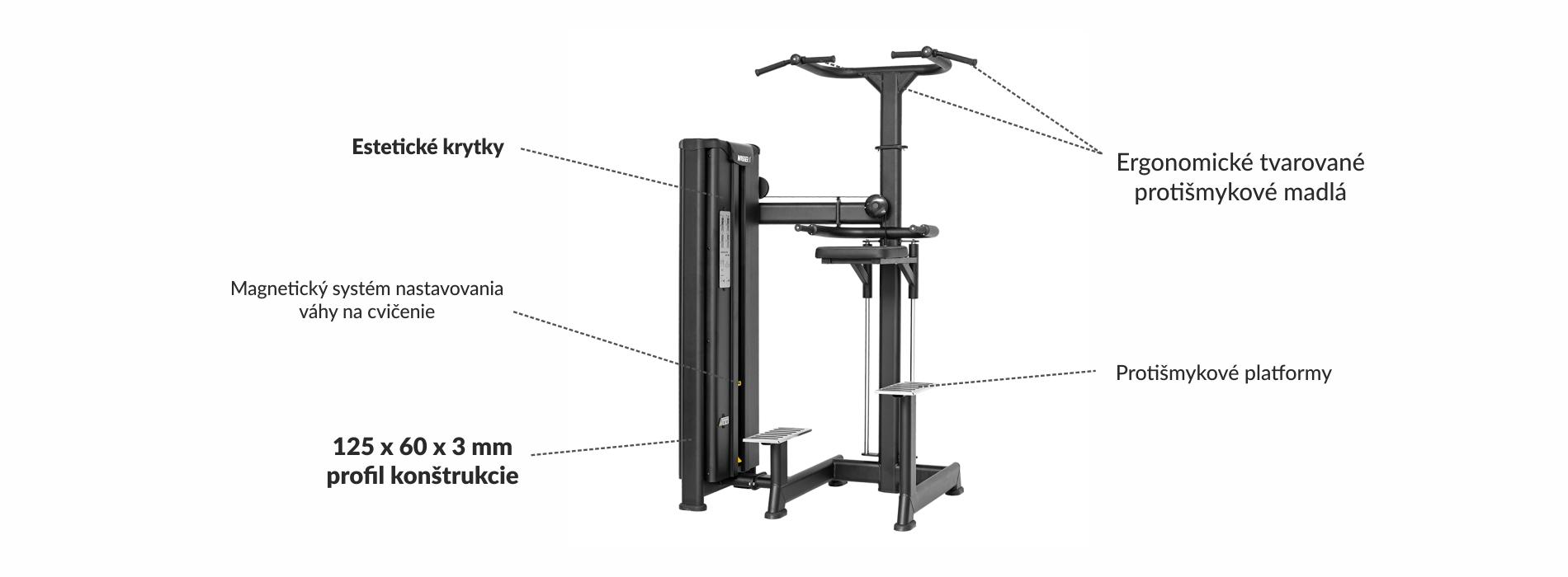 Stroj na posilnenie hornej časti tela a rúk Master Sport
