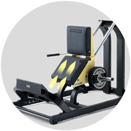 Technogym stroj na lýtka - trajektória pohybu