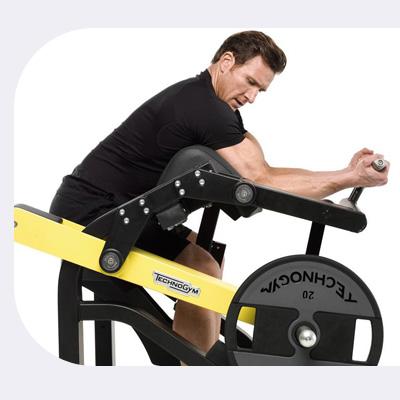 Ergonómia stroja Technogym Purestrength Biceps