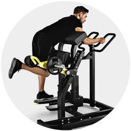 Cvičenie na stroji Standing Leg Curl