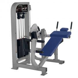 Stroj na posilňovanie brucha Hammer Strength sivý
