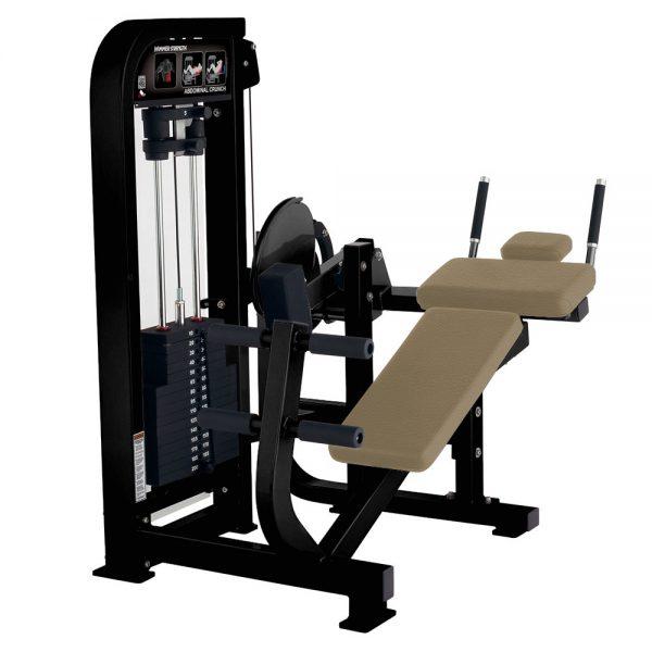 Stroj na posilňovanie brucha Hammer Strength čierny