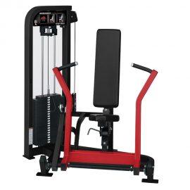 Stroj na posilňovanie prsných svalov Hammer Strength čierny