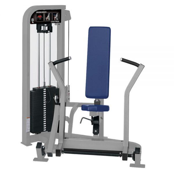 Stroj na posilňovanie prsných svalov Hammer Strength sivý