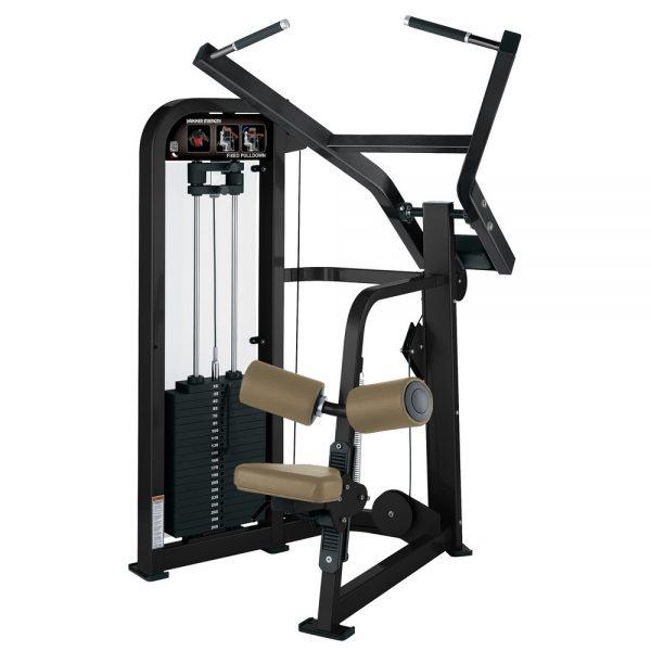 Stroj na cvičenie chrbta a ramien Hammer Strenght čierny