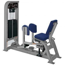 Stroj na cvičenie vonkajších stehenných svalov Hammer Strength sivý