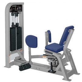 Stroj na cvičenie vnútorných stehenných svalov Hammer Strength sivý