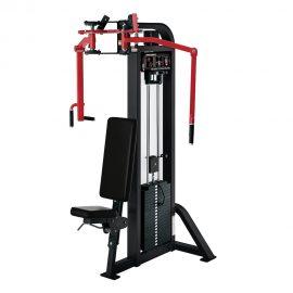 Stroj na cvičenie ramien a chrbta Hammer Strength čierny