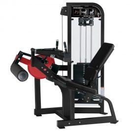 Stroj na cvičenie hamstringov Hammer Strength čierny