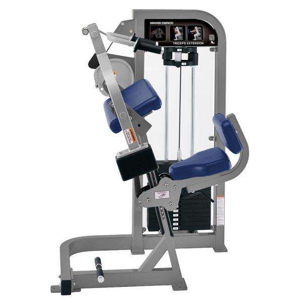Stroj na posilňovanie tricepsov Hammer Strength sivý