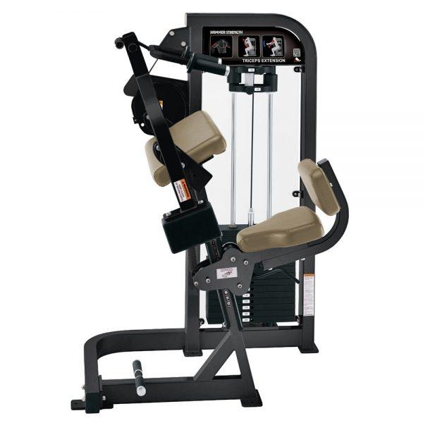 Stroj na posilňovanie tricepsov Hammer Strength čierny